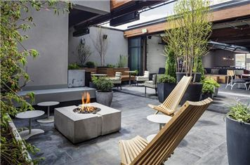 Fire Pit And Outdoor Seating At The Freepoint Hotel West Cambridge